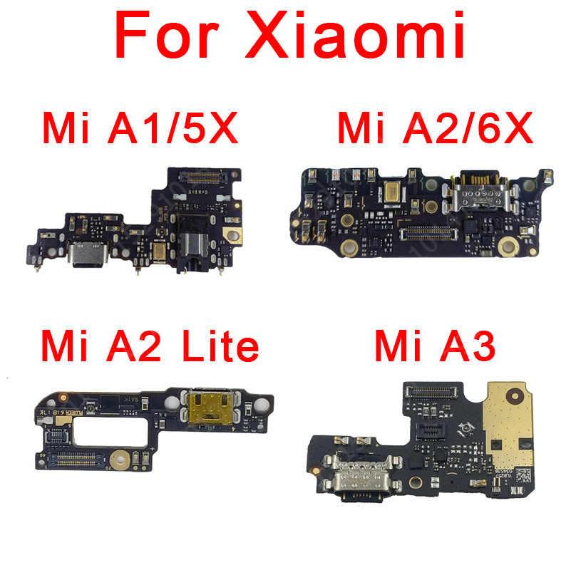 Asli Pengisian Port untuk Xiaomi Mi A1 A2 Lite A3 5X 6X Redmi 6 Pro Papan Charge Usb Bodoh konektor Kabel Fleksibel Suku Cadang