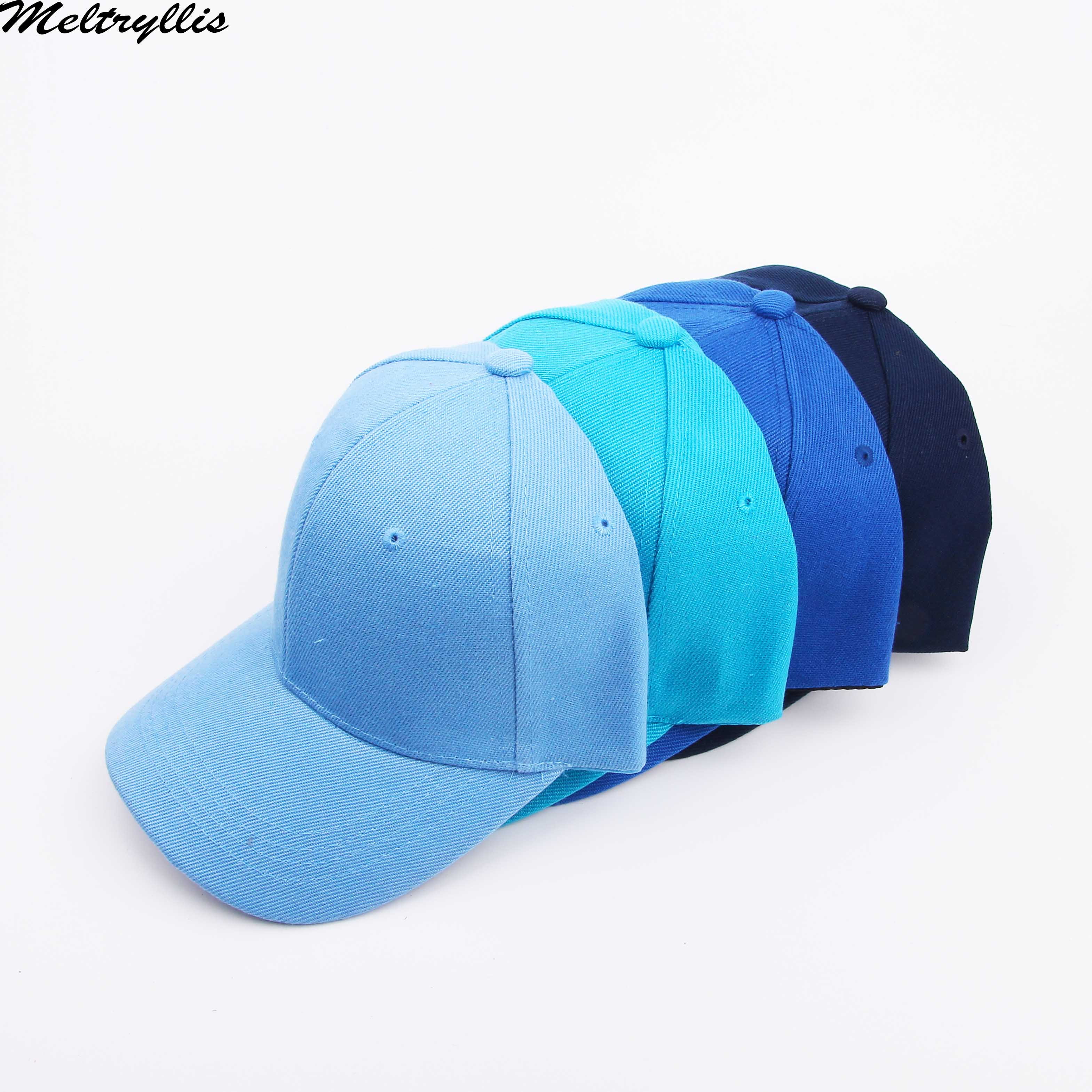 [Meltryllis] Navy Summer Baseball Cap High Quality Cotton Adjustable Blue-colored Items Caps Dad Hat Outdoor Hats For Men Women