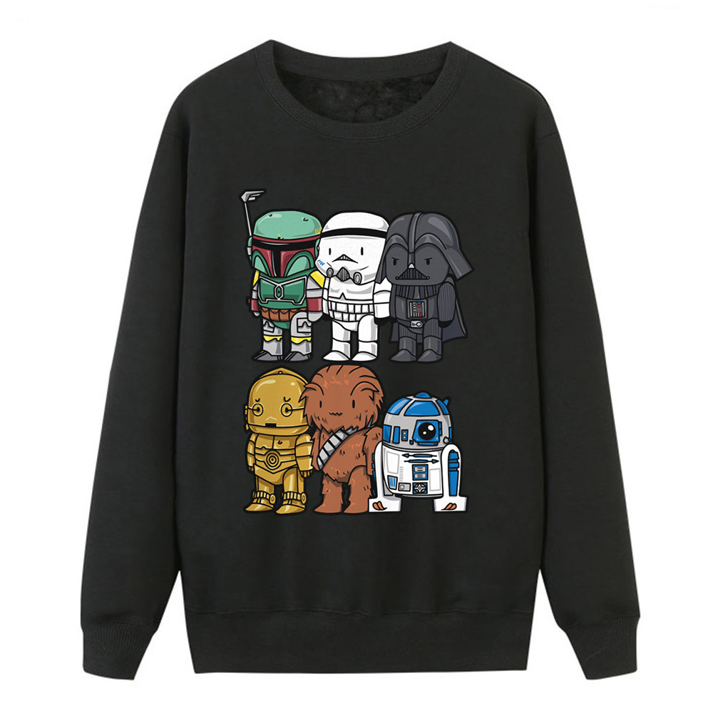 Star Wars Hoodies Sweatshirts Women Yoda Darth Vader Crewneck Sweatshirt Tops Winter Fleece Streetwear Starwars Sportswear Women