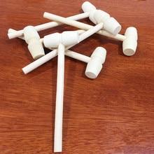 цена на 1pc Mini Hammer Wood Hammer Wooden Hammer Multitool Small Hammer Little Light Weight Hammer Christmas Gift  Knock Egg  Toy