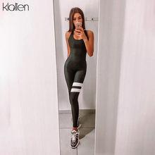 KLALIEN – combinaison de sport une pièce à haute élasticité pour femmes, nouvelle collection, Sexy, dos nu, survêtement, vêtements de course