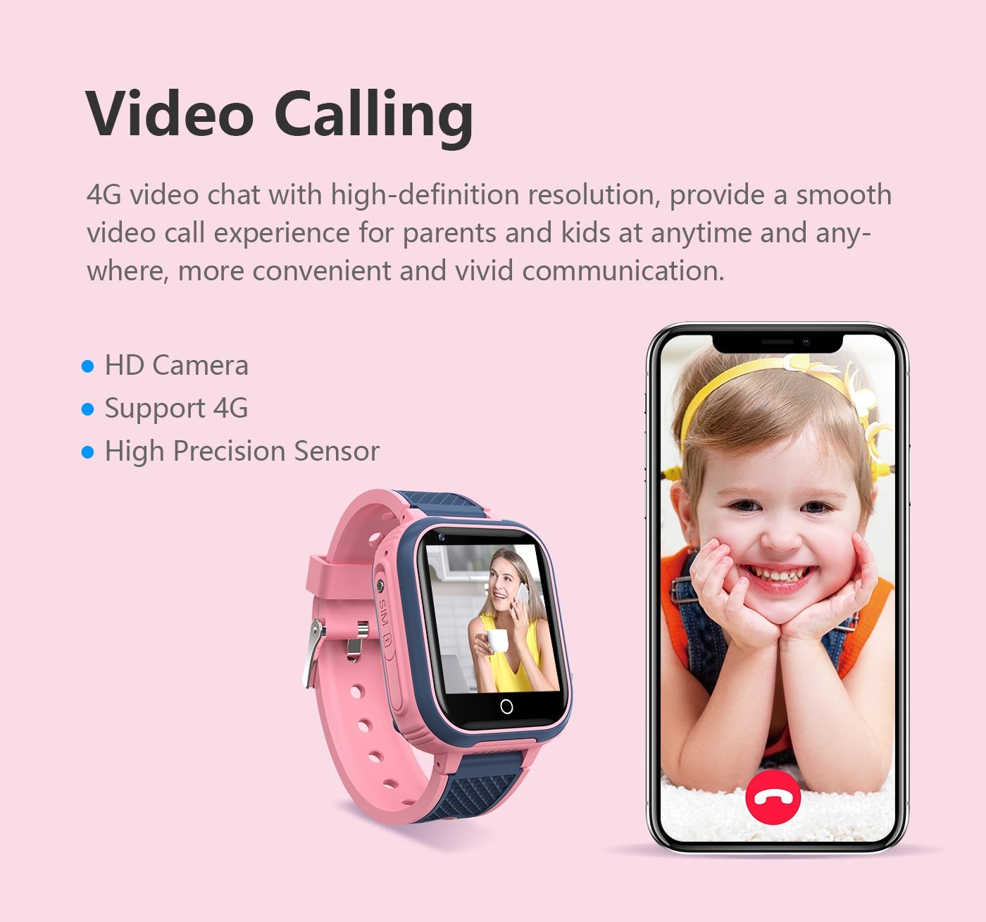 H6aad8110968e436b80fb88636ce78b73O LT21 4G Smart Watch Kids GPS WIFI Video Call SOS IP67 Waterproof Child Smartwatch Camera Monitor Tracker Location Phone Watch