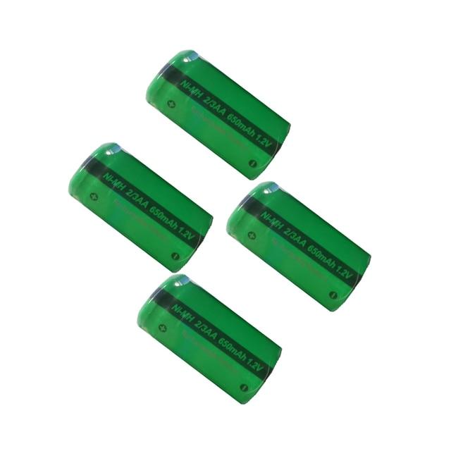 4/8/20PC PKCELL 2/3AA 650MAH 1.2V NIMH Rechargeable batteries 2/3 aa battery flat top for soldering Shaving razor  solar light