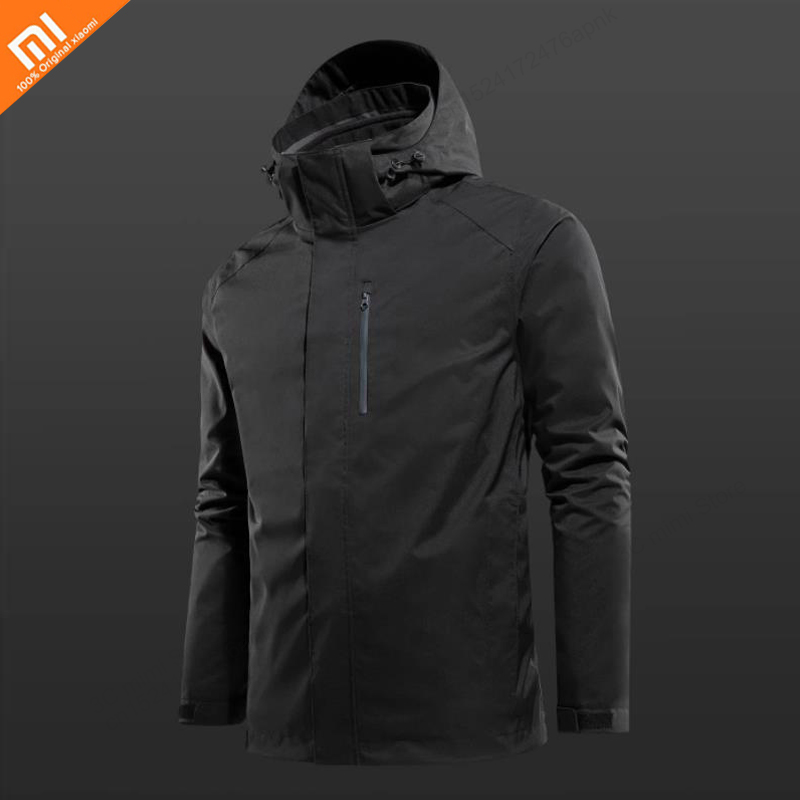 Original Xiaomi ULEEMARK Three-in-one Jacket Waterproof Windproof Wear-resistant Tear-resistant Removable Liner YKK Zipper Smart