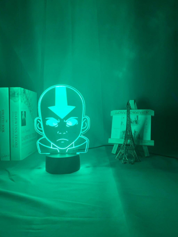 H6aad8e1154b8432aaf09b7ba20e186cau Luminária Acrílico 3d Lâmpada Nightlight Avatar The Last Airbender para As Crianças Decoração Do Quarto Da Criança A Lenda de Aang Figura Mesa Appa luz da noite