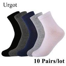 Urgot 10 Pairs/lot 2019 Mens Cotton Socks New styles Black Business Men