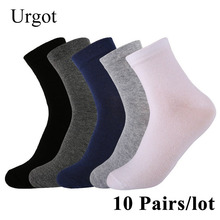 Urgot 10 Pairs/lot 2019 Mens Cotton Socks New styles Black Business Men Socks Breathable Autumn Winter for Male Meias Calcetines