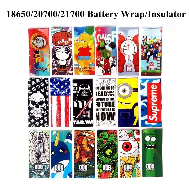 5Pcs/Pack Battery 18650/20700/21700 Battery Wrap Wrapper Case Sticker Sleeve Cover Skin Insulator 18650 21700 PVC Heat Shrink