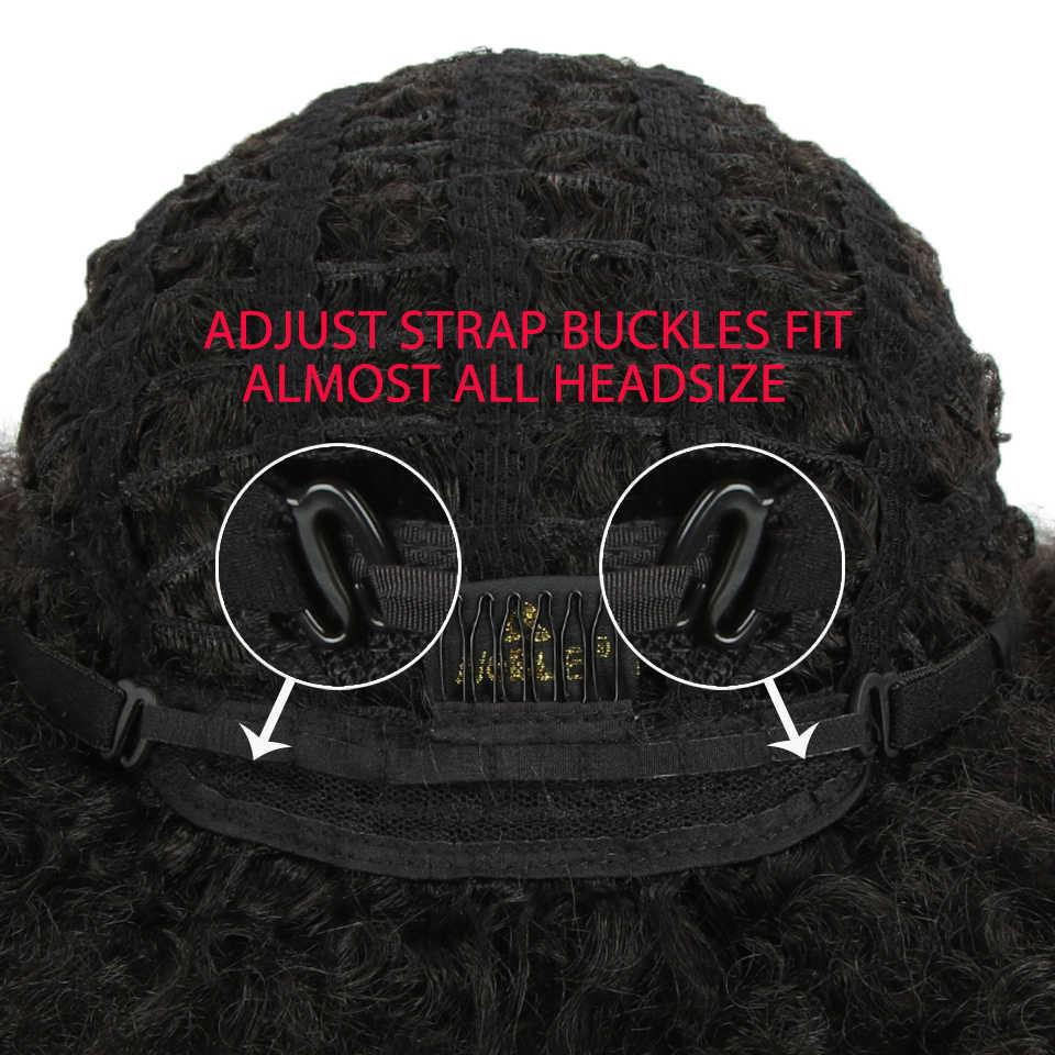 """MAGIC Hair 10 """"Inch Afro Pruik voor Vrouwen Afrikaanse Donker Bruin Zwart Rood Kleur Yaki Straight Korte Pruik Synthetische cosplay Haar"""