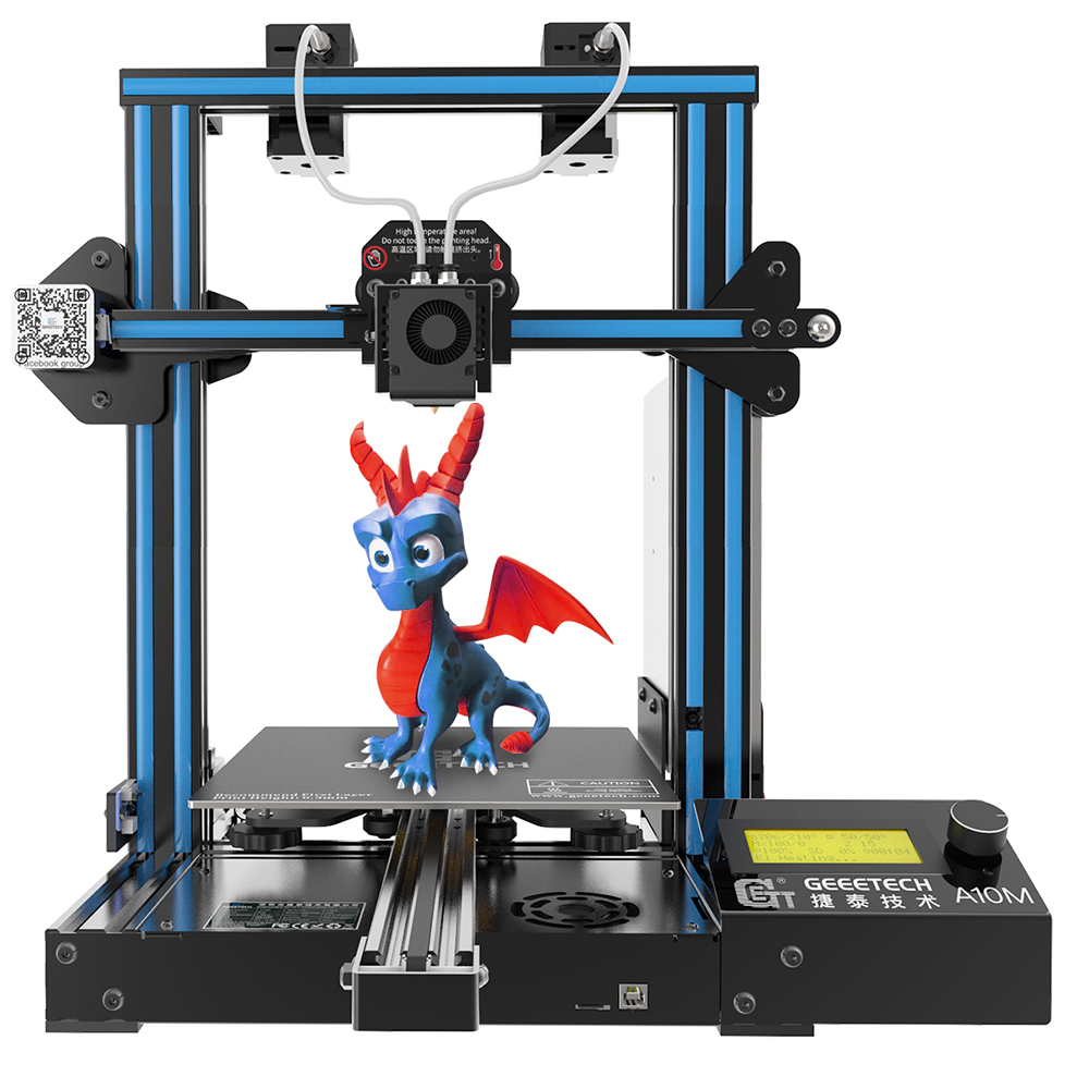 Geeetech 3D Printer New A10M 2 In 1 Mixcolor Auto-Leveling Function 220*220*260 3mm Aluminum Hotbed  Filament Sensor CE FDM