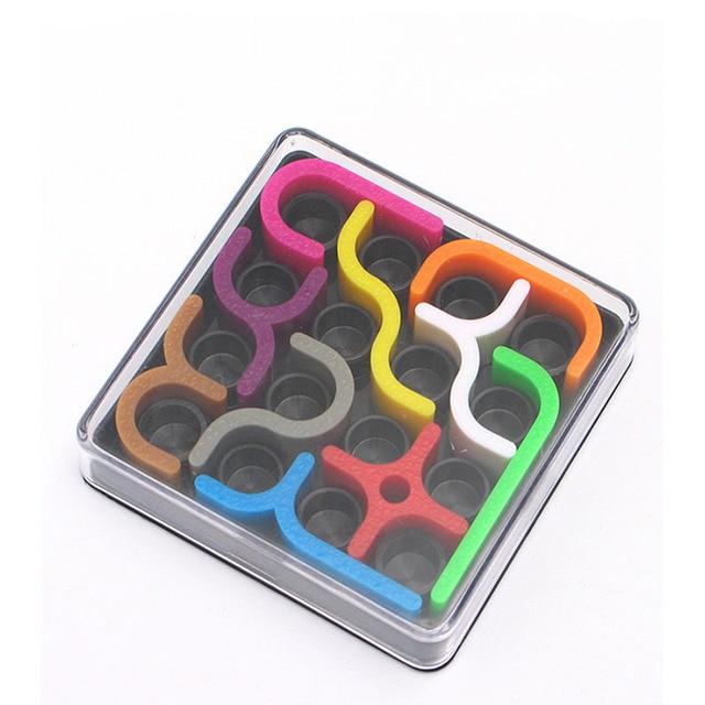 Créatif 3D Intelligence Puzzle fou courbe Sudoku Puzzle jeux géométrique ligne matrice Puzzle jouets pour enfants apprentissage jouet cadeau