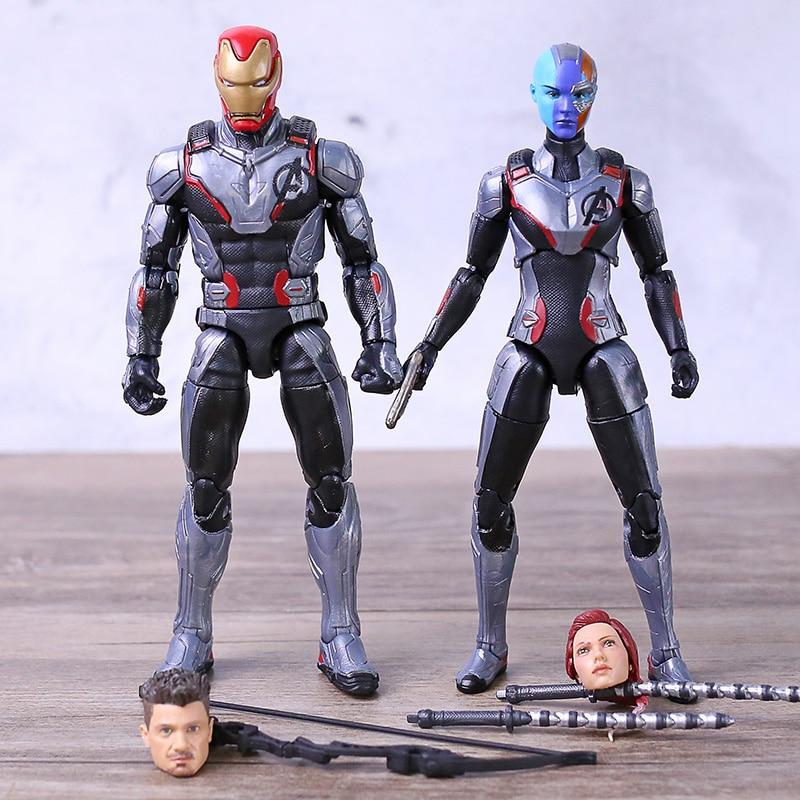 Black Widow Marvel Legends Avengers Endgame team suit Nebula Hasbro loose figure