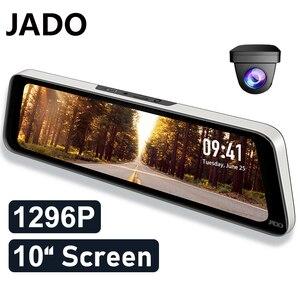 JADO Car Camera Video Recorder 10 Inch Car Dash Camera IPS Screen 24Hour Parking Monitoring Dvr Cam Auto Video recorder 1296P HD