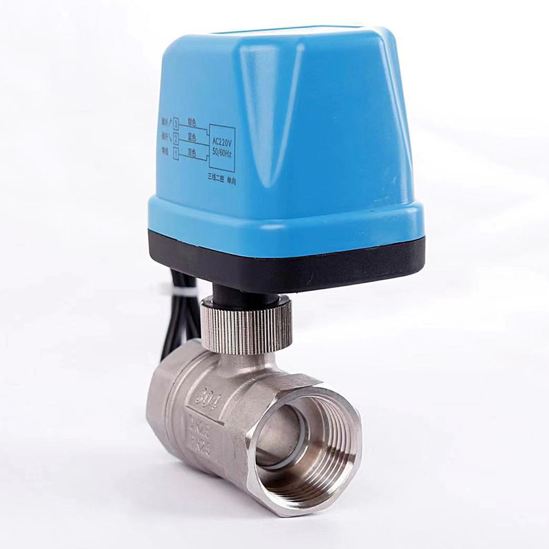 New Stainless Steel Motor-driven Two-way Globe water <font><b>Valve</b></font> Two Line Normally Open Often Close 12V 24V 220V Solenoid <font><b>ball</b></font> <font><b>Valve</b></font> image