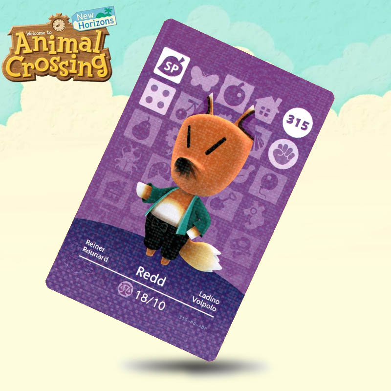 315 Redd Animal Crossing Card Amiibo Cards Work For Switch NS 3DS Games