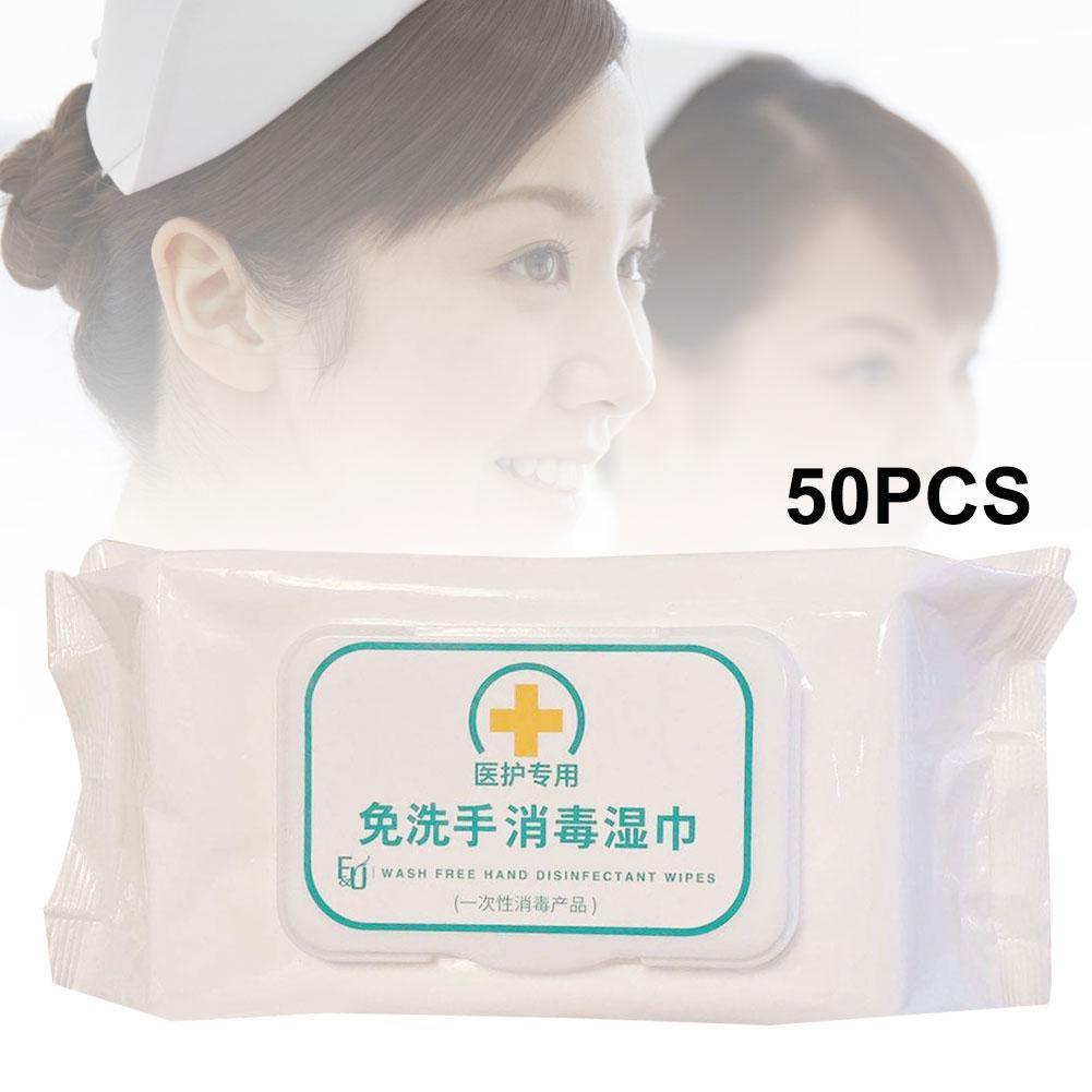 50Pcs/Bag Disposable Sterilization Disinfection Soft Wet Wipes Paper Tissue Poszetka Garnitur Fast Shipments