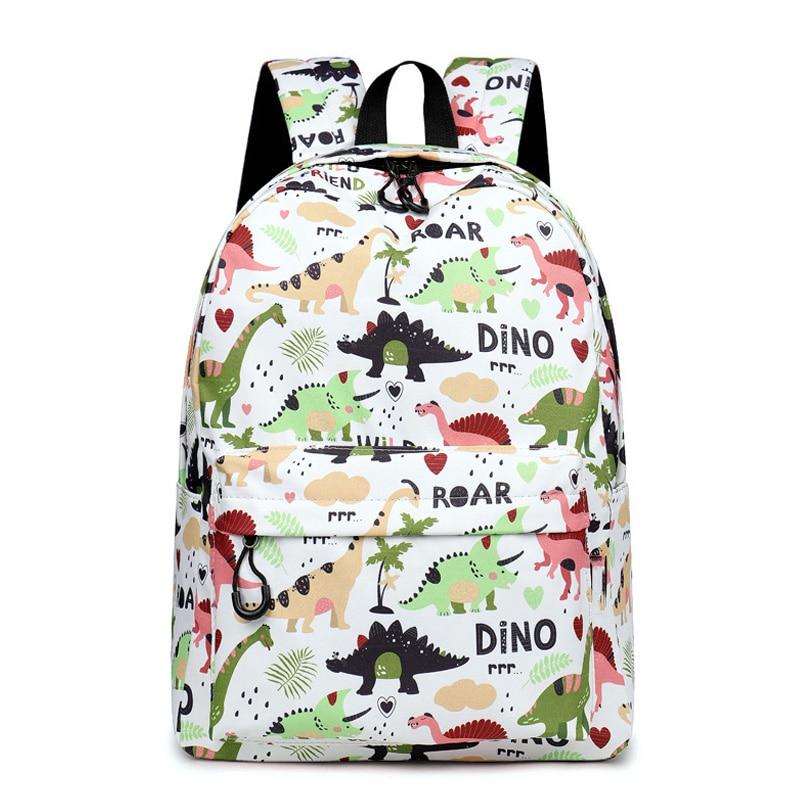 CIKER Water Resistant Backpack Feminina Dinosaur Backpack Printed School Bags For Teenage Girls Boy Mochila 2019