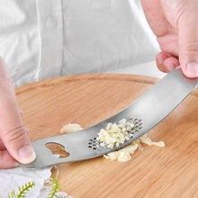 1 ud. De acero inoxidável, prensas de ajo, picadora manual de ajo, herramientas para picar, herramientas para ajo curvo, herrami