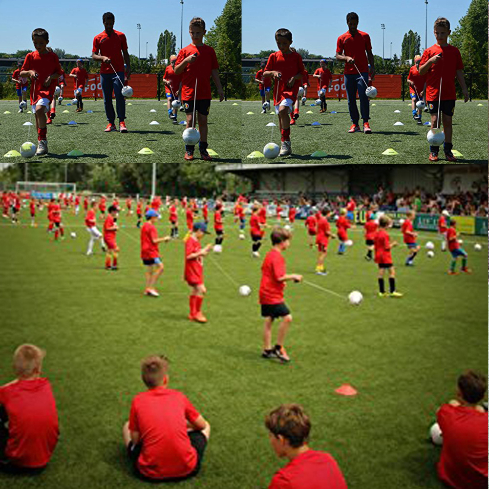 Football Training Ball Kick Soccer Ball PVC Size 2 Kids Adult With String Beginner Trainer Practice Belt Outdoor Sport Supplies
