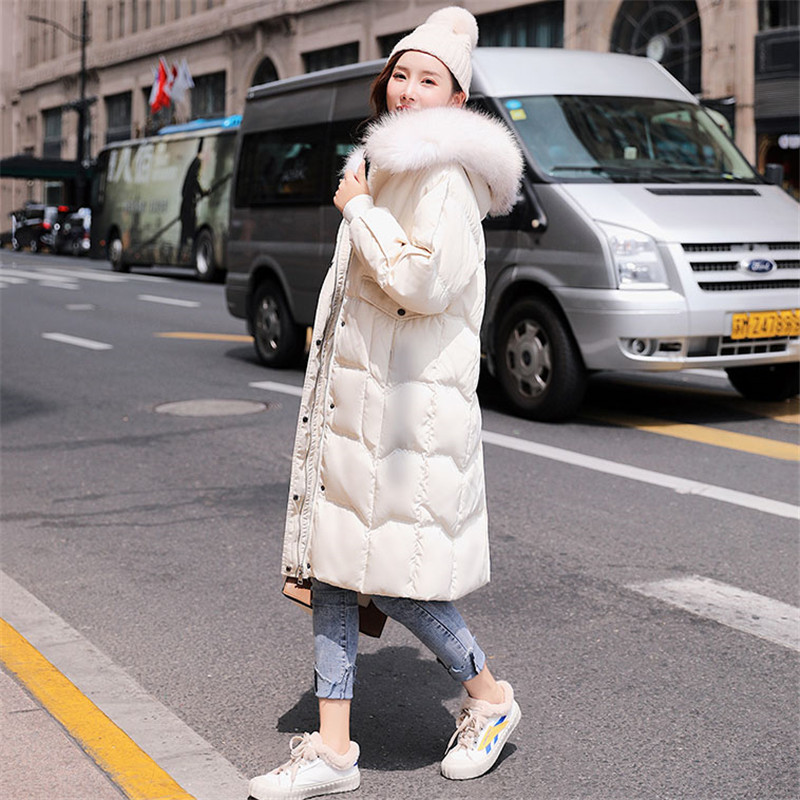 2019 New Autumn Winter   Down   jacket parkas women Korean   Down   jacket fashion   coat   women Real fur collar warm parka   coat   YH524