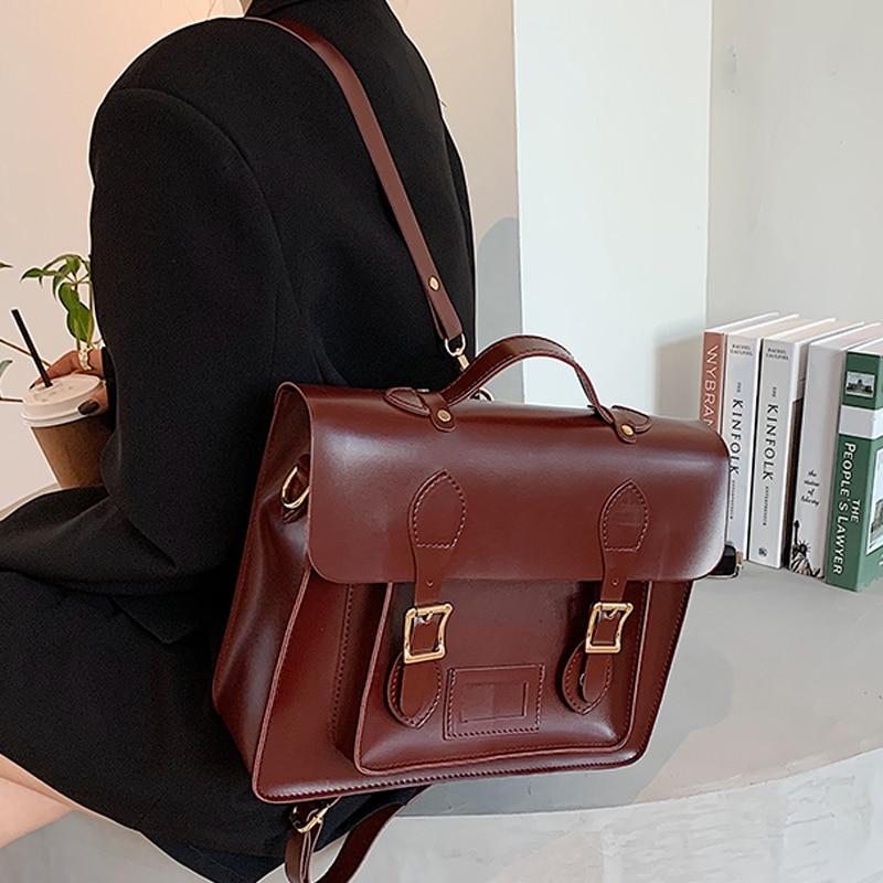 Vintage Leather Backpack and Shoulder Bag 1