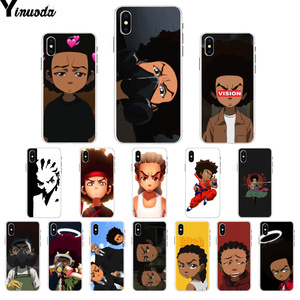 Yinuoda The Boondocks huey and riley TPU Soft Silicone Phone Case for iPhone X XS MAX 6 6s 7 7plus 8 8Plus 5 5S SE XR(China)