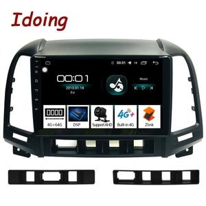 "Image 1 - Idoing 9 ""1Din Android Auto Radio Multimedia Stereo Audio Player Navi GPS Für Hyundai Santa Fe 2 2006 2012 4G + 64G Octa Core DSP"