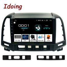"""Idoing 9 """"1Din android のカーラジオマルチメディアステレオオーディオプレーヤーナビ gps サンタフェ 2 2006 2012 4 グラム + 64 グラムオクタコア dsp"""