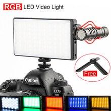 Светодиодный светильник RGB с регулируемой яркостью для видеосъемки, удлиняющий холодный свет для микрофона, светильник DSLR для фотографии, светильник ing