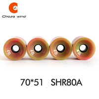 4PCS Top Pro Skateboard Wheels 70*51mm SHR78A Frosted Wheels Pro Longboard Dance Board Frosted Wheels