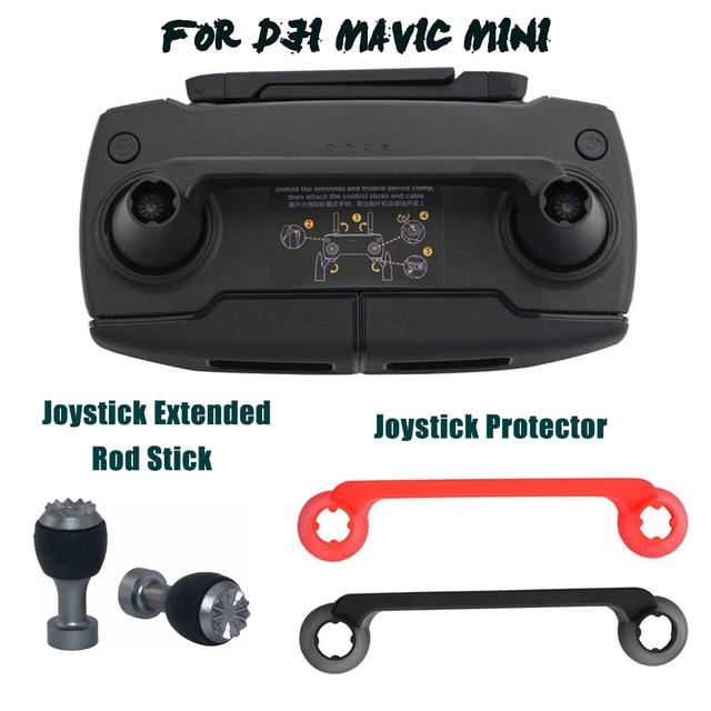 Joystick Protector+Extended Rod For DJI Mavic Mini Drone Remote Controller Thumb Stick Guard Rocker Cover Mount Holder