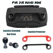 Joystick protetor + haste estendida para dji mavic mini drone controle remoto polegar vara guarda rocker capa de montagem titular