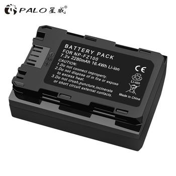 Palo 2280mAh NP-FZ100 NP FZ100 Battery For Sony NP-FZ100 BC-QZ1 Alpha 9 A7RIII ILCE-7RM3 A9 Sony A9R Sony Alpha 9S Camera фото