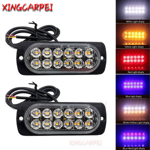 2/4pcs 12 LED Strobe Warning L