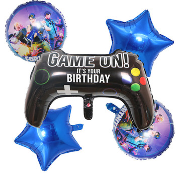6pcs/set Fortnite Birthday Party Decoration Balloon Set Age Number 0 to 9 Optional Aluminum Film Balloon Kid's Christmas Gift 2