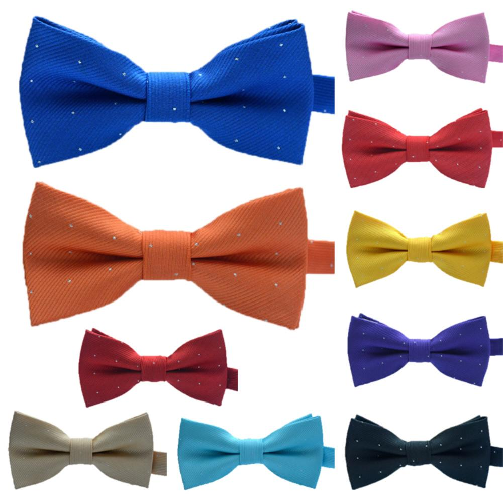 Cute Kids Silver Bow Tie Candy Color Necktie Baby Boy Girl Wedding Dress Accessories Business Party Formal Tie