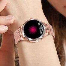Relógio inteligente feminino adorável pulseira sono freqüência cardíaca monitor de pressão arterial smartwatch senhoras presente relógios masculino para android ios