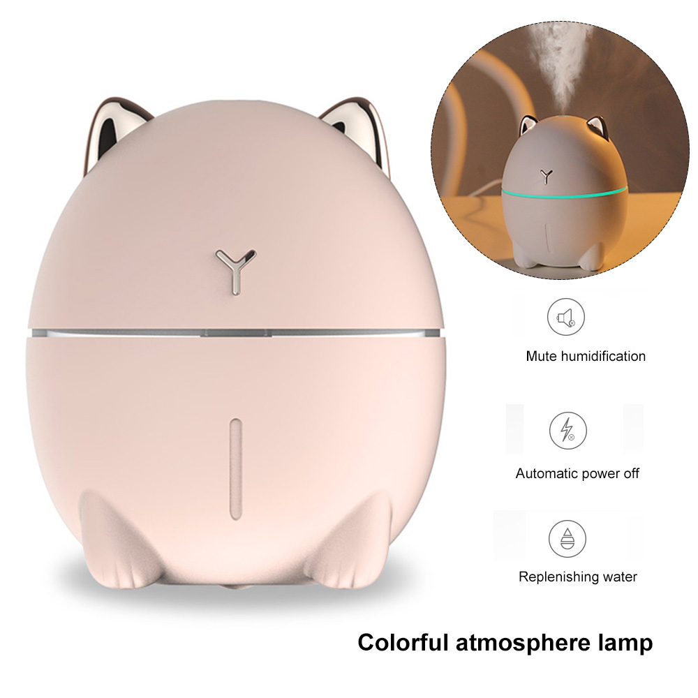 Humidifier USB Mini Home Office Mute LEDs 200ml Atomizer LEDs Lamp aroma diffuser essential oils air humidifier