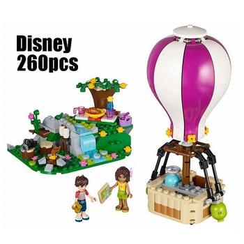 Compatible 41097 Girl Friends Kid 10546 260pcs blocks Heartlake Hot Air Balloons building blocks toys for children фото