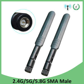 20 piezas 2,4 GHz, 5 GHz, Antena de 5,8 Ghz 5dBi conector macho SMA WiFi de doble banda Antena aéreo inalámbrico router 2,4 ghz 5,8 ghz