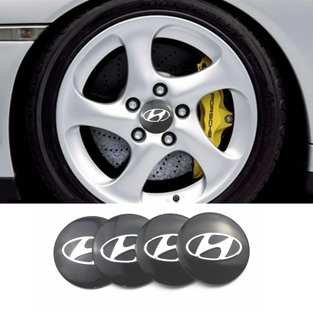 4PCS 56mm Car Styling Tire Wheel Center Hub Caps Covers Sticker For Solaris Ix35 I20 I30 I40 HYUNDAI Tucson CRETA Santa