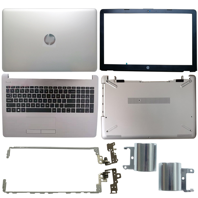 NEW For HP 15-BS 15-BW Series Laptop LCD Back Cover/Front Bezel/LCD Hinges/Hinges Cover/Palmrest/Bottom Case Silver 924892-001