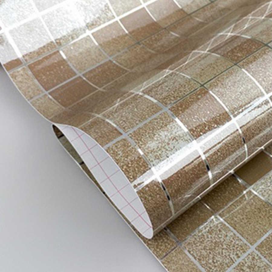 Adesivi murali bagno carta da parati mosaico in PVC adesivi per piastrelle impermeabili da cucina carte da parati autoadesive in vinile di plastica decorazioni per la casa