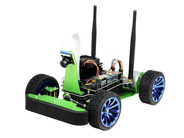 JetRacer AI Kit, AI гоночный робот работает от Jetson Nano, глубокое обучение, самостоятельное вождение, линия видения