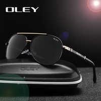 OLEY Marke Sonnenbrille Männer Polarisierte Mode Klassische Pilot Sonnenbrille Angeln Fahren Brille Shades Für Männer/Wome Y7005