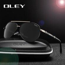 Мужские/женские классические очки авиаторы OLEY, черные поляризационные солнцезащитные очки, очки для рыбалки и вождения, модель Y7005, 2019