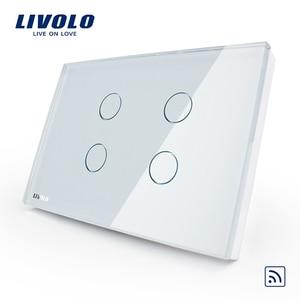 Image 3 - Сенсорный выключатель LIVOLO US AU standard, 1 полоска, переключатель, беспроводное управление, 110 250 В, белая стеклянная панель, диммер, таймер, дверной звонок