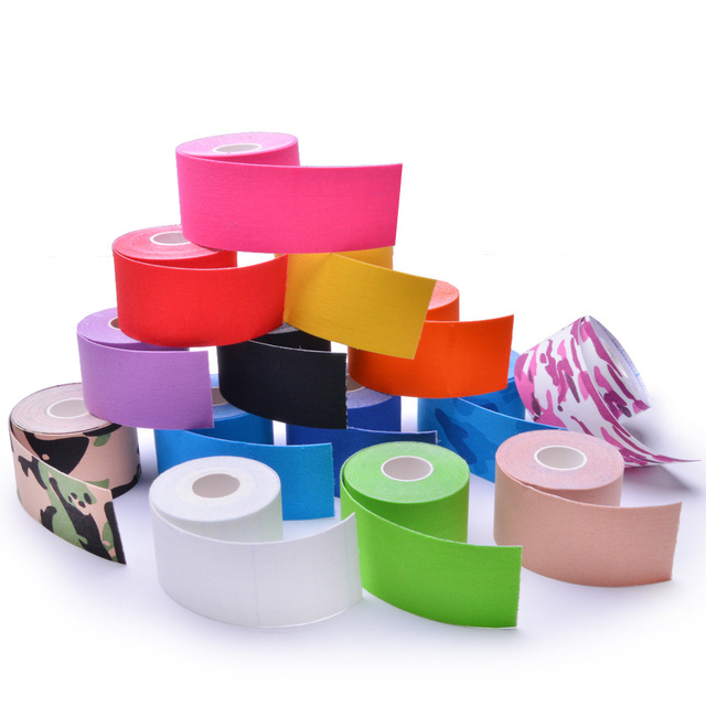 Kinesiology Tape Athletic Recovery Elastic Tape Kneepad Muscle Pain Relief Knee Pads Support for Gym Fitness Bandage