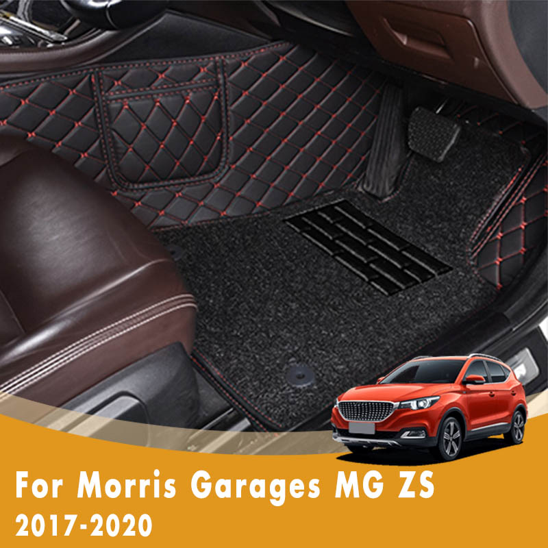 Rhd Luxury Double Layer Wire Loop Car Floor Mats For Morris Garages Mg Zs 2020 2019 2018 2017 Custom Carpets Rugs Auto Parts Floor Mats Aliexpress