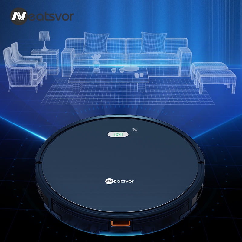 Top SaleNEATSVOR X500 Robot Vacuum Cleaner 3000PA Poweful Suction 3in1 pet hair home dry wet mopping cleaning robot Auto Charge vacuum